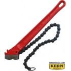 Цепной трубный ключ с двойными губками KERN